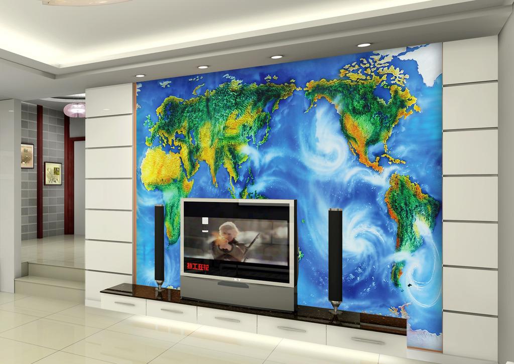 3d地图背景墙