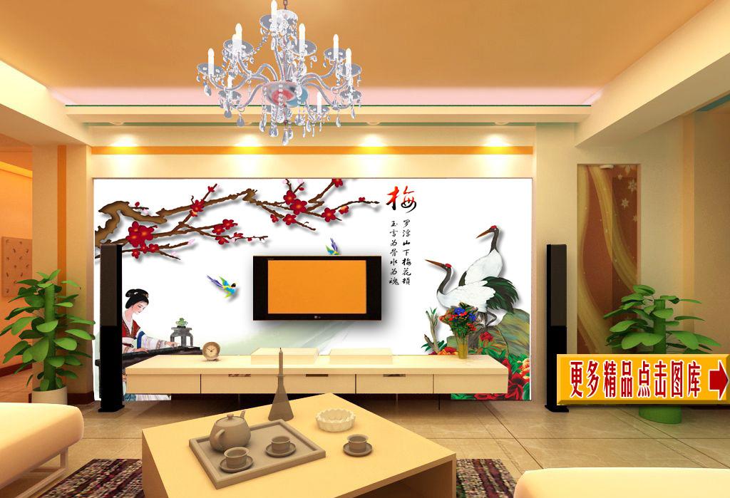 古代客厅背景墙挑高客厅背景墙图片10