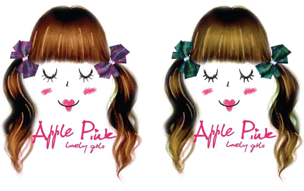 个性时尚女孩印花卡通人物发型字母图案