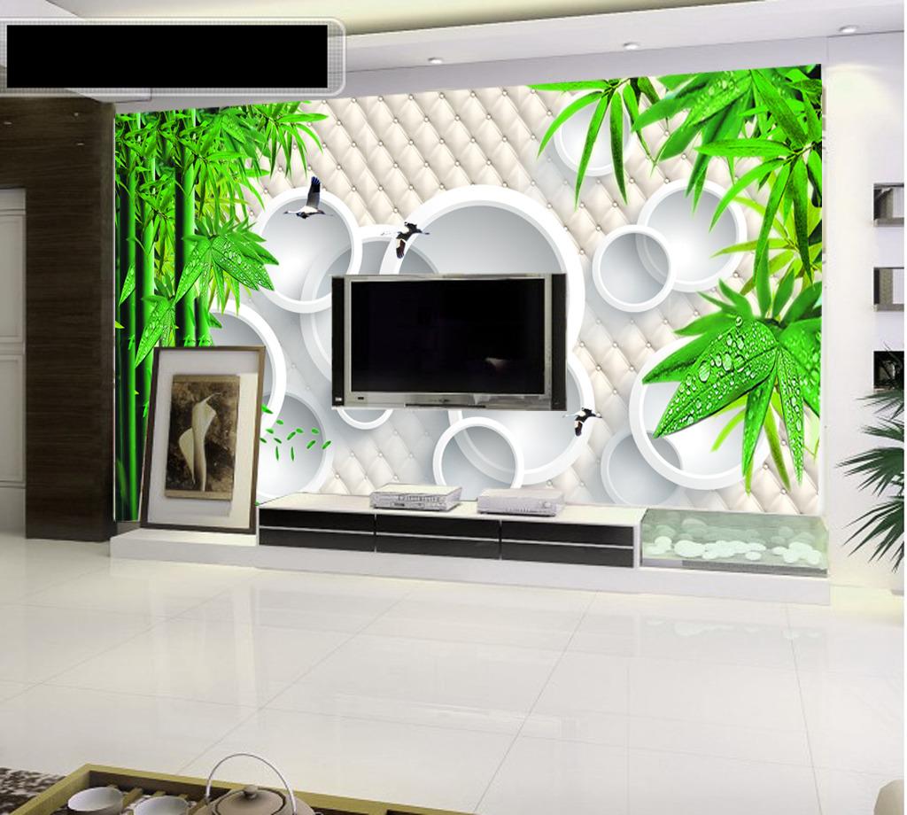 3d竹林电视背景墙