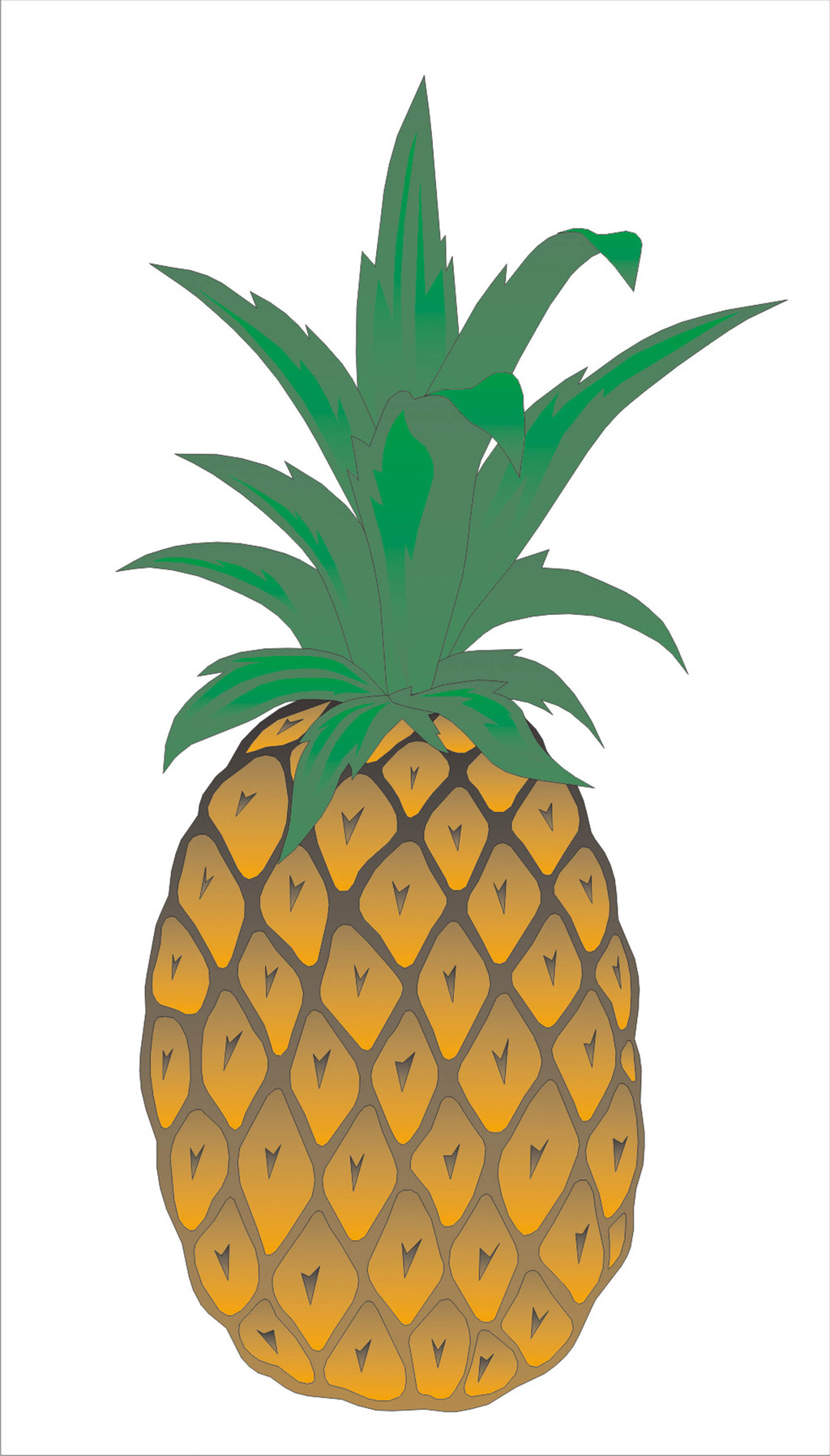 卡通菠萝矢量图