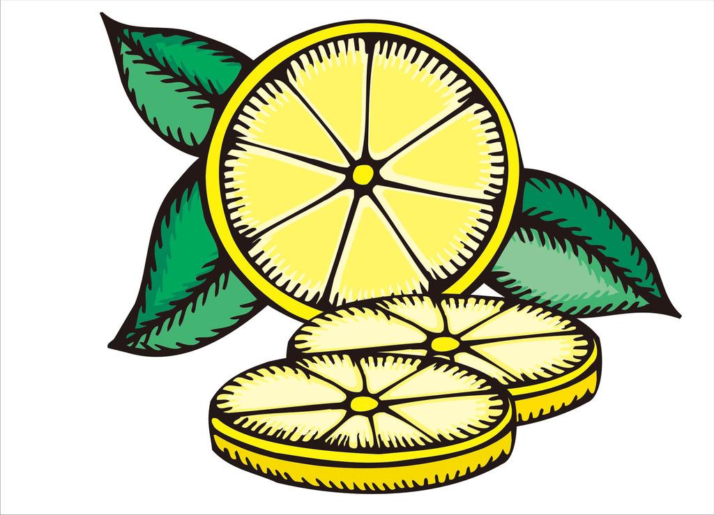 卡通柠檬矢量图