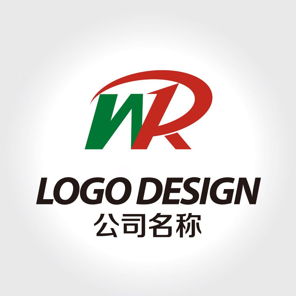 wr字母logo设计图片