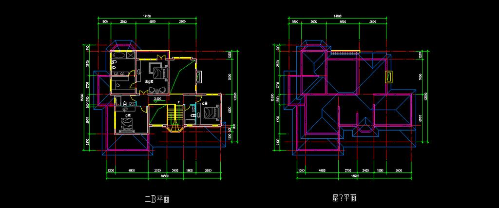 全套欧式别墅CAD施工图纸效果图模板下载 11885118 室外设计 背景墙
