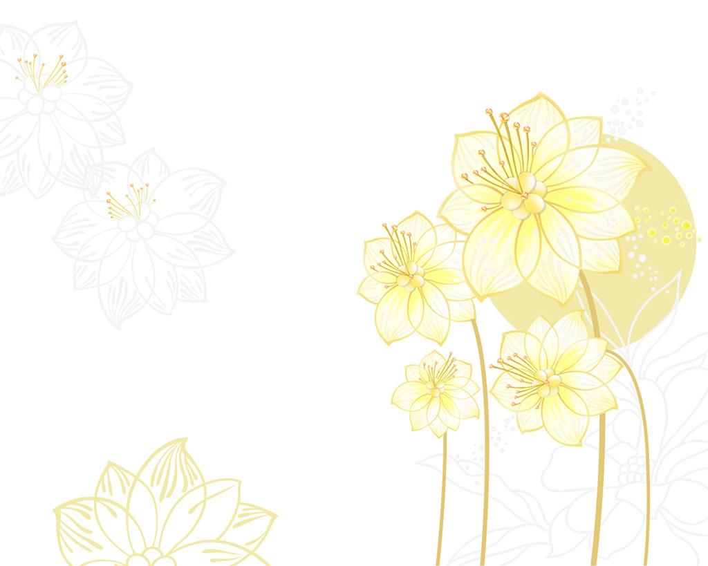 雅阁时尚荷花莲花简约线条电视沙发客厅背景