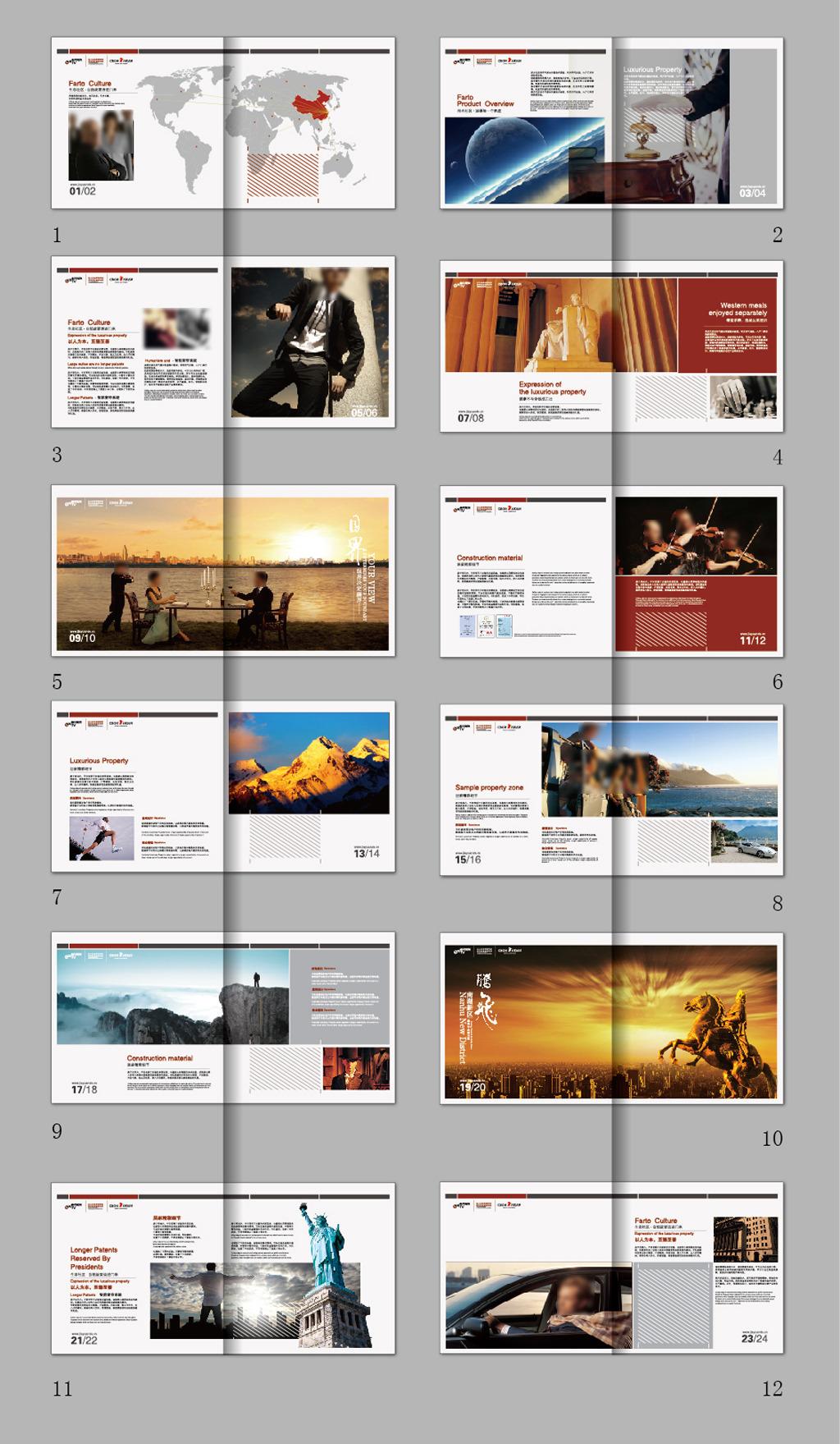 国外风格版式排版画册模板