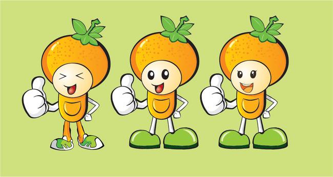 桔子卡通图片