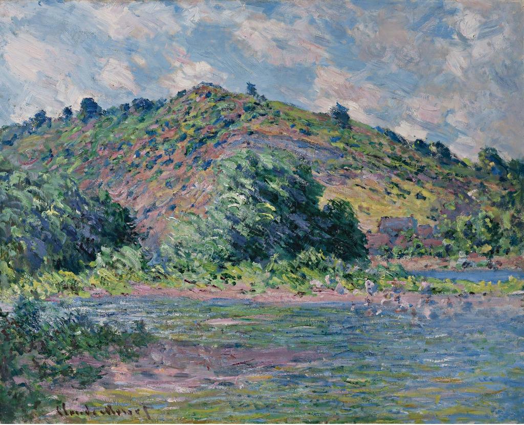 世界杰出传世名画之山坡图片下载 世界杰出传世名画之山坡 油画风景