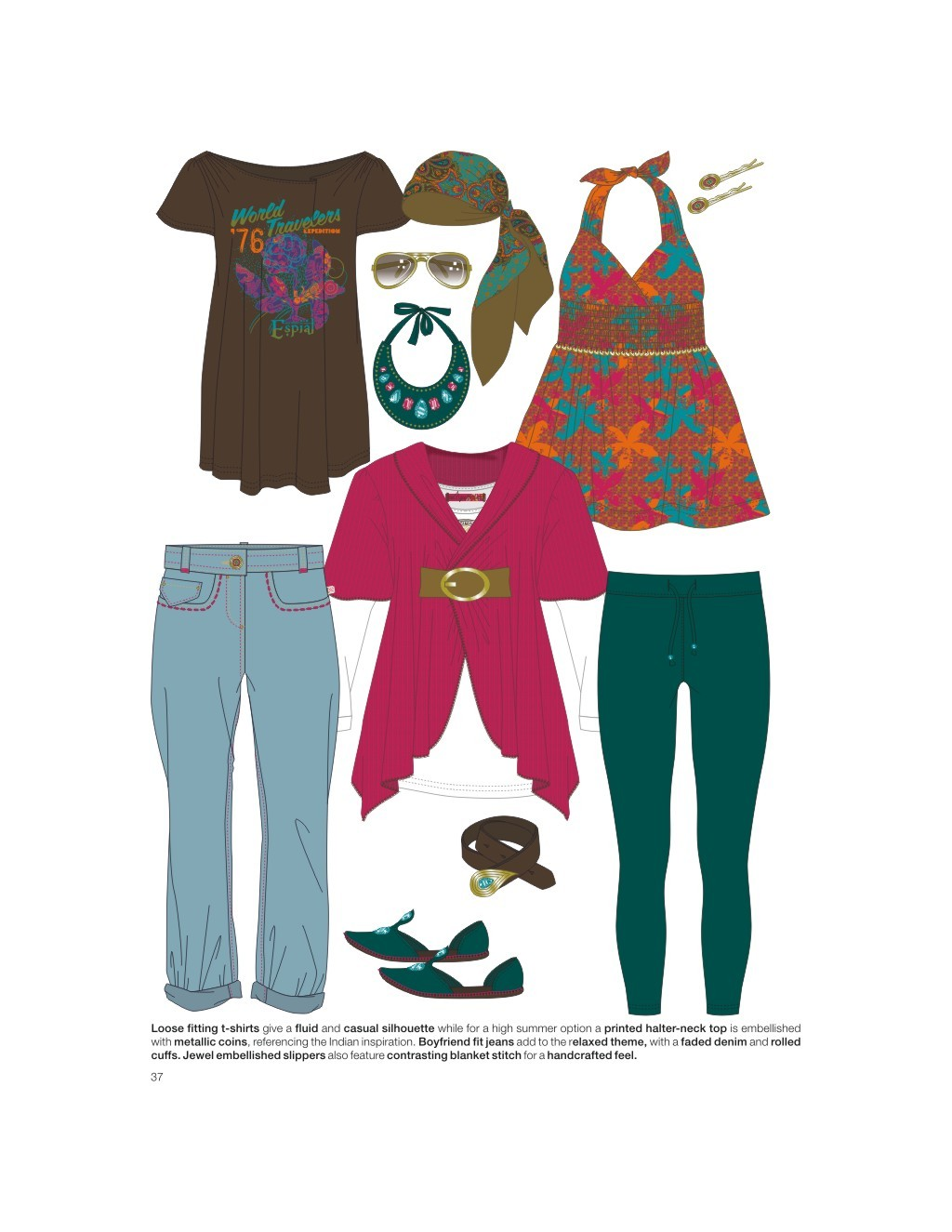 效果图 服装款式手稿 流行t恤 时尚潮流 创意图案 电脑绘制服装款式图