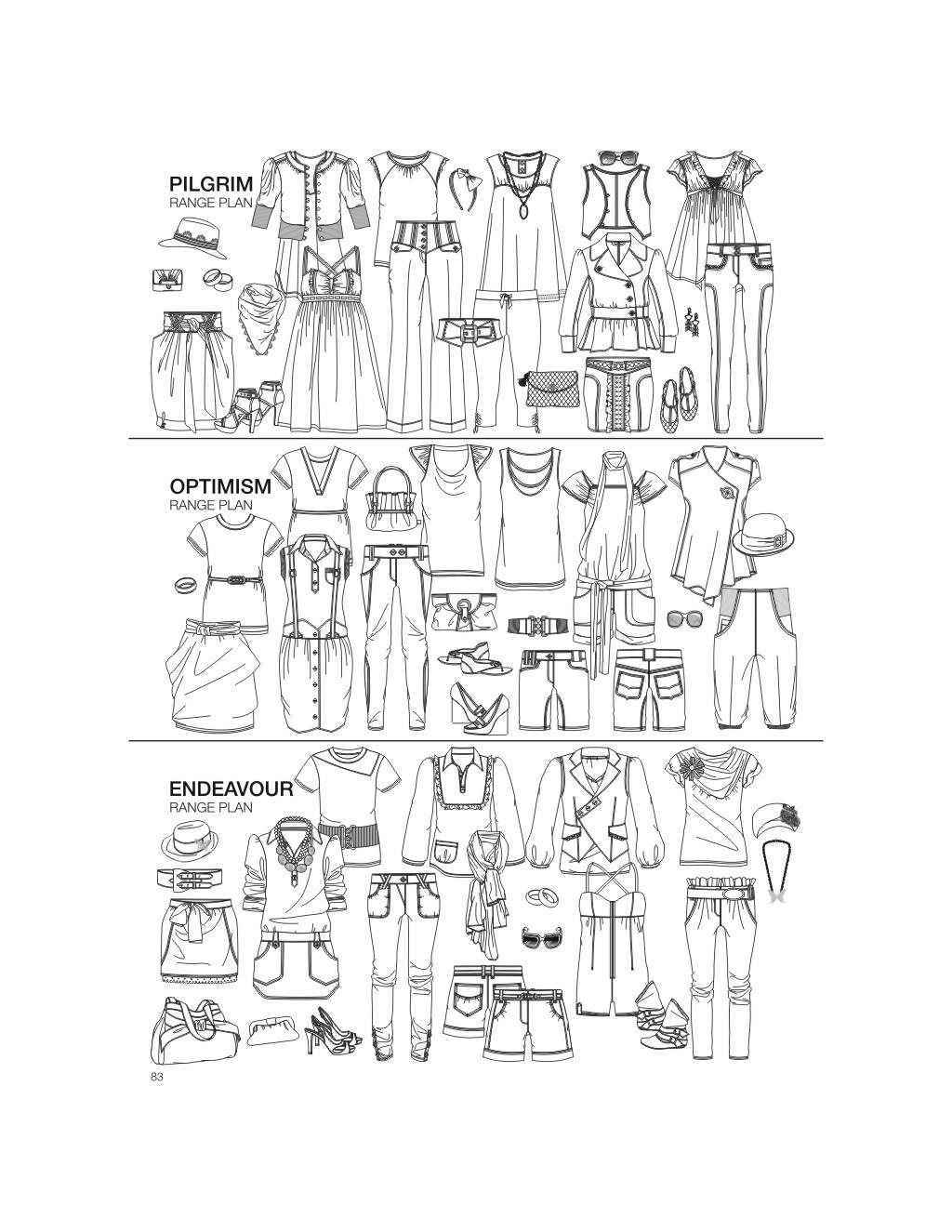 服装手绘效果图模板下载