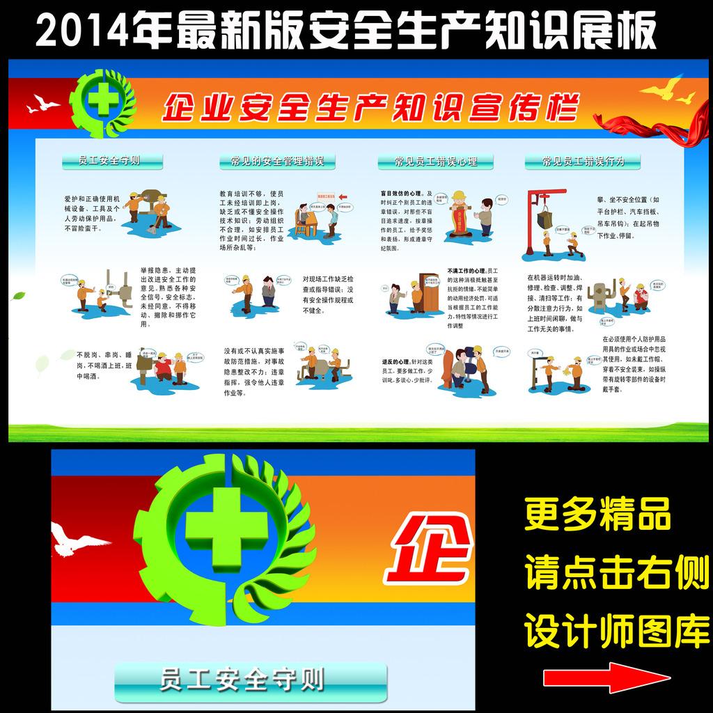 平面设计 展板设计 2014安全生产月展板 > 安全生产教育知识宣传栏