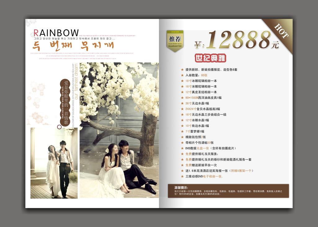 婚庆公司婚纱摄影价目表模板下载(图片编号:11897257)