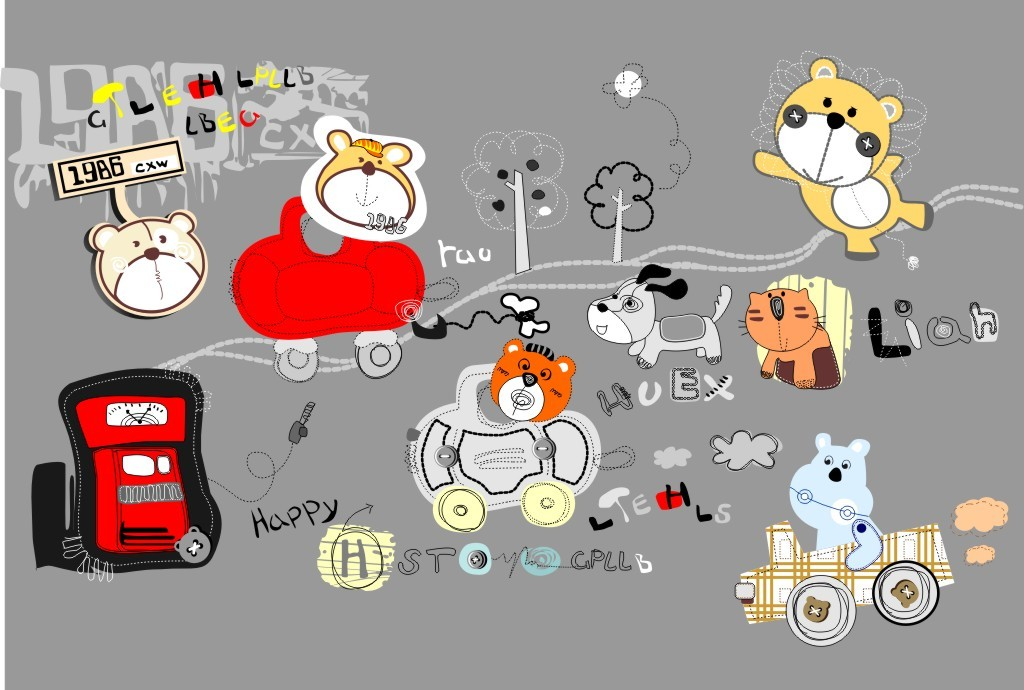 可爱卡通图案模板下载(图片编号:11905453)