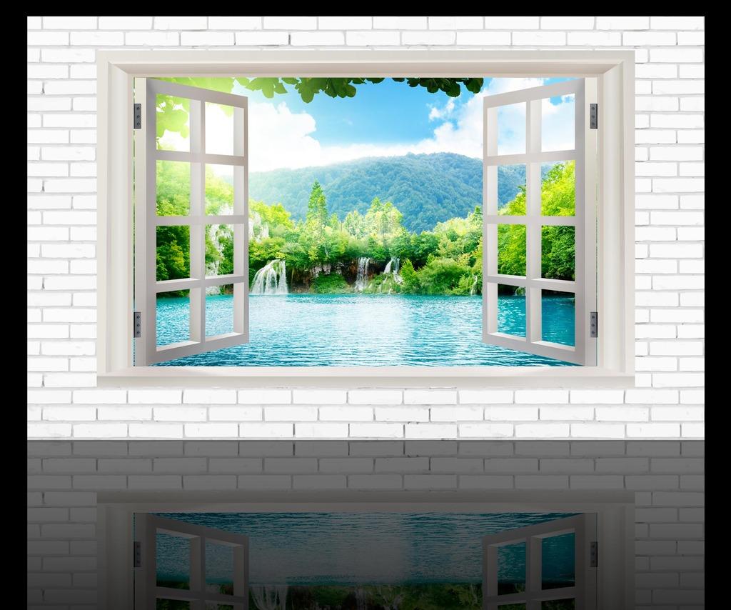 3d立体风景背景墙