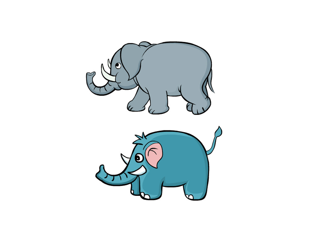 大象简笔画[42p]_动物简笔图片下载