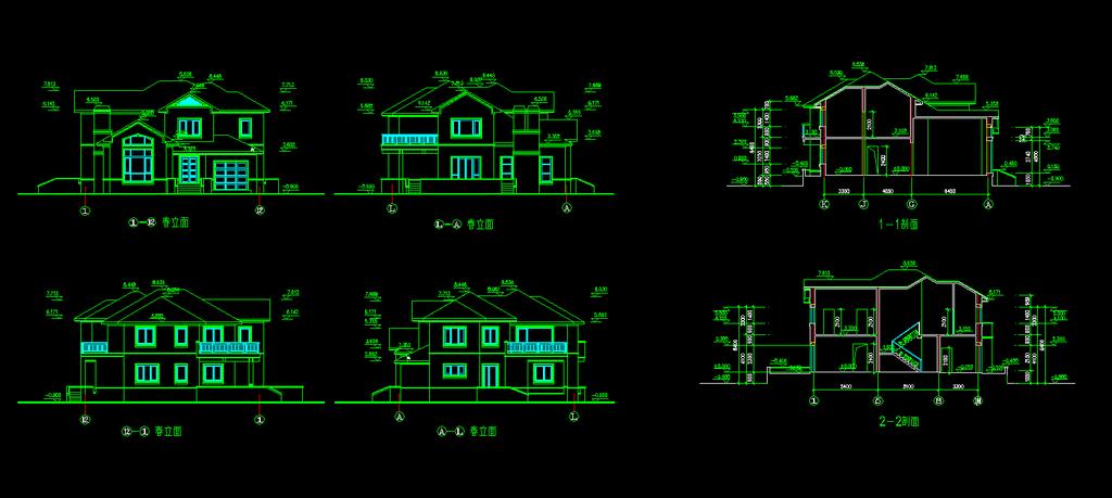 别墅设计图下载cad施工图园林风景