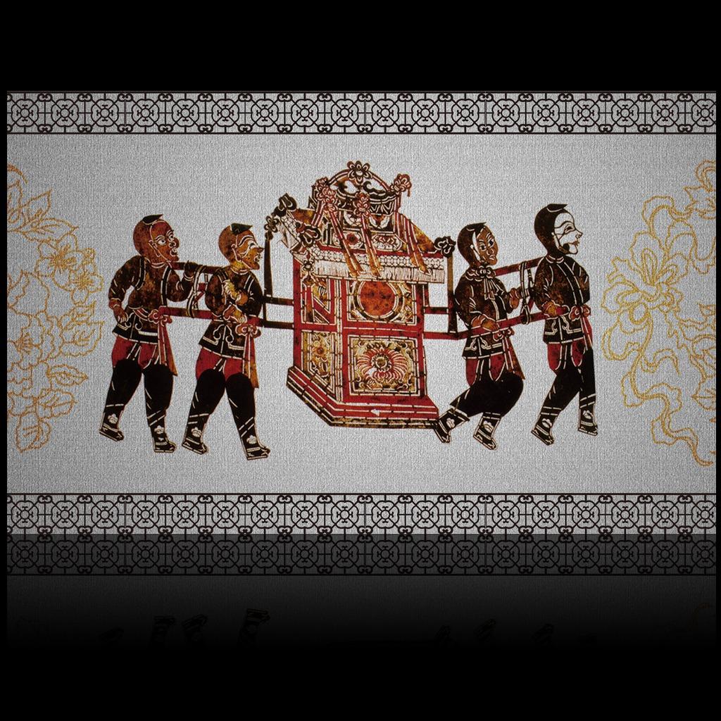 京剧艺术剪纸皮影中式风格电视背景墙装饰画图片下载 壁画 装饰画