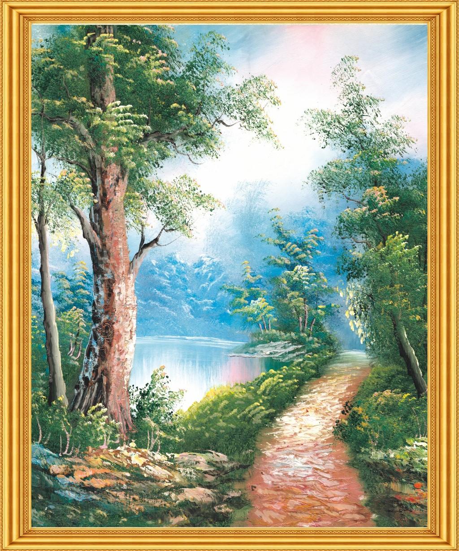 背景墙|装饰画 山水风景画 山水风景画 > 风景山水油画风景  原创正版