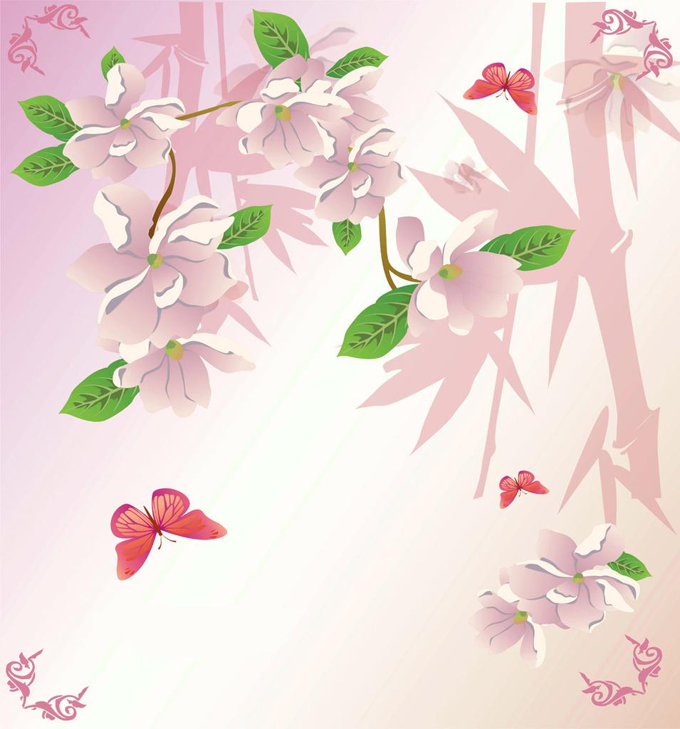 手绘花朵简单彩