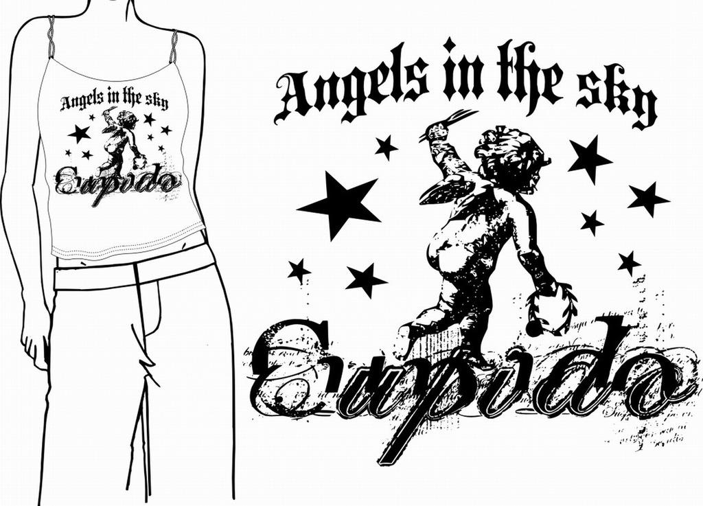 休闲时装设计 休闲内衣 t恤设计 冬装设计 印花图案服装 休闲时装