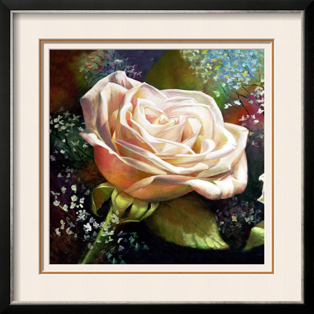 一朵盛开的玫瑰油画模板下载 11942699 油画 装饰画 背景墙图片