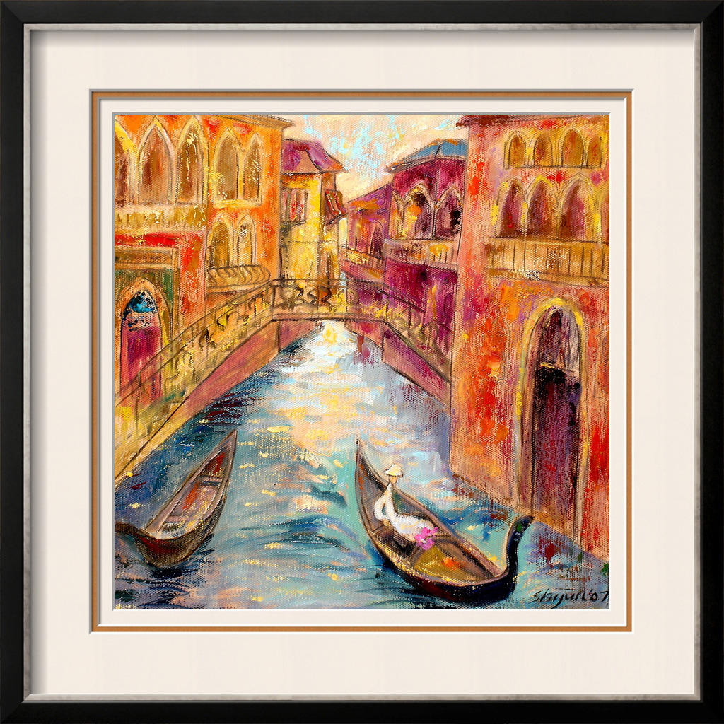 威尼斯两只小船油画模板下载 11942947 油画 装饰画 背景墙