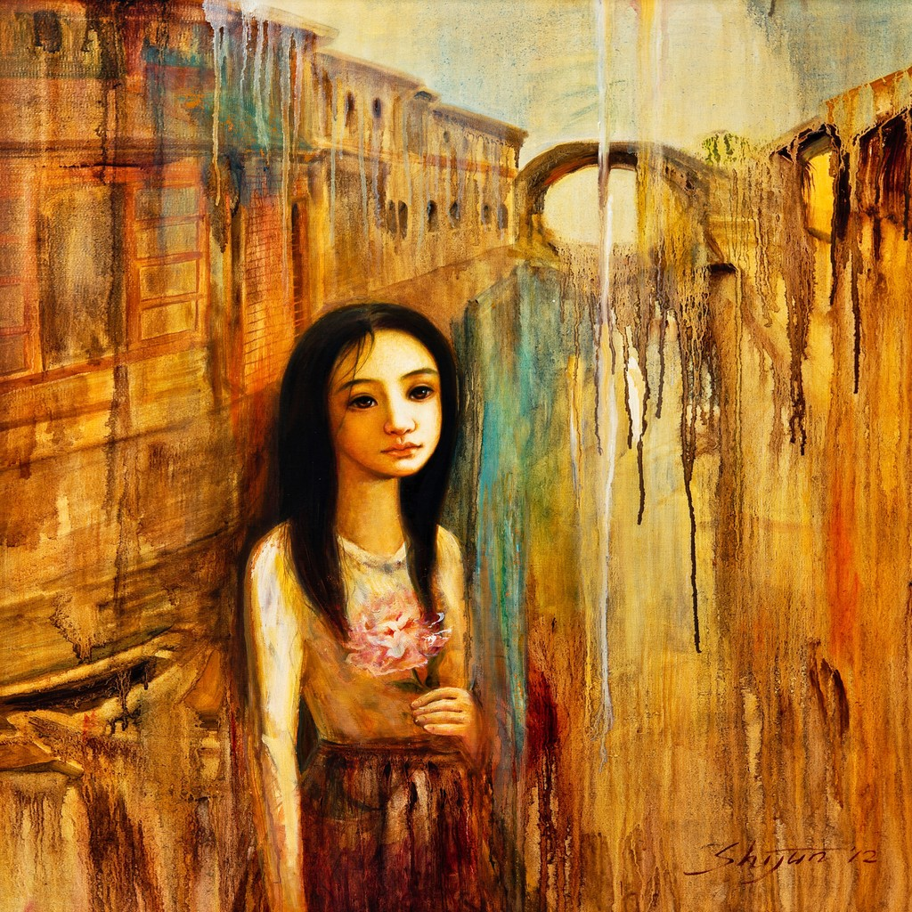 威尼斯 女孩/威尼斯桥下的长发女孩...