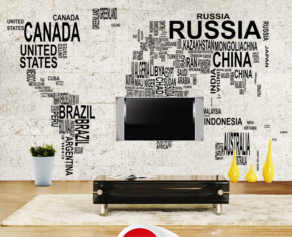 数字地图石墙背景墙