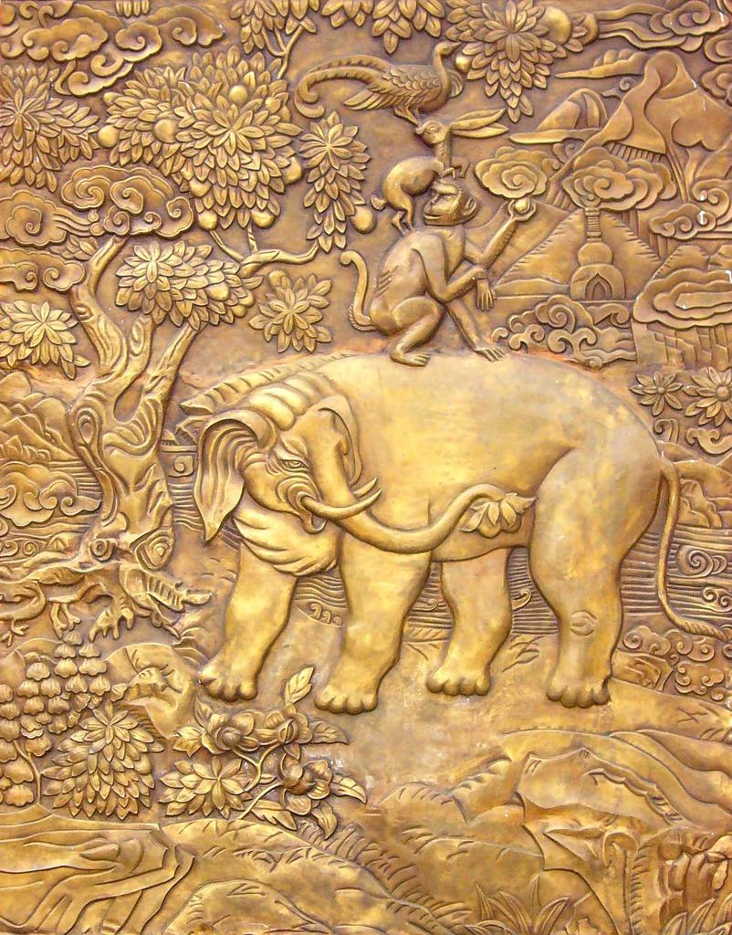 藏式图腾装饰画图片