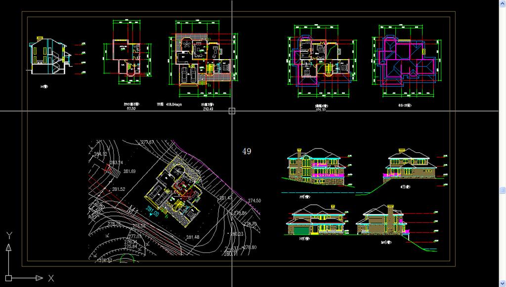 cad别墅设计图 别墅设计图纸下载
