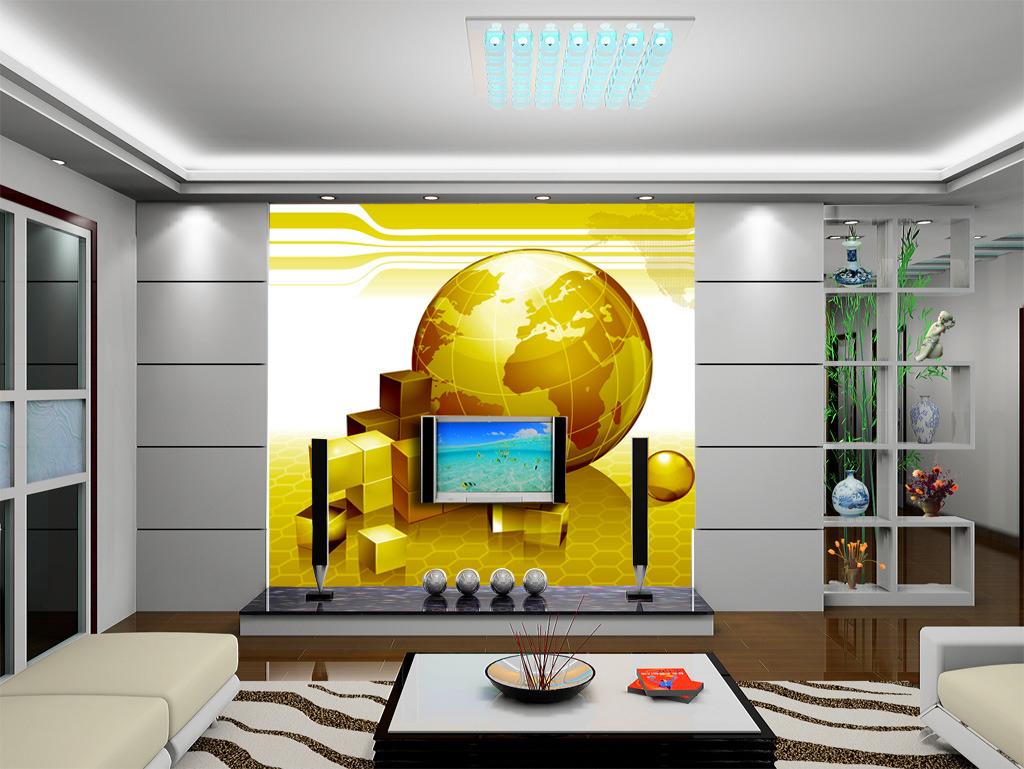 3d立体企业文化公司单位前台背景墙形象墙模板下载