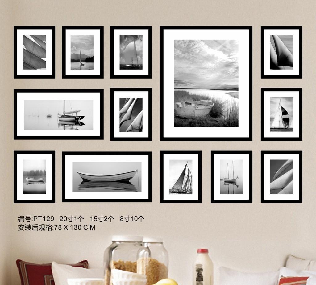 背景墙|装饰画 照片墙 其他 > 黑白海景照片墙  编号:11954207 软件