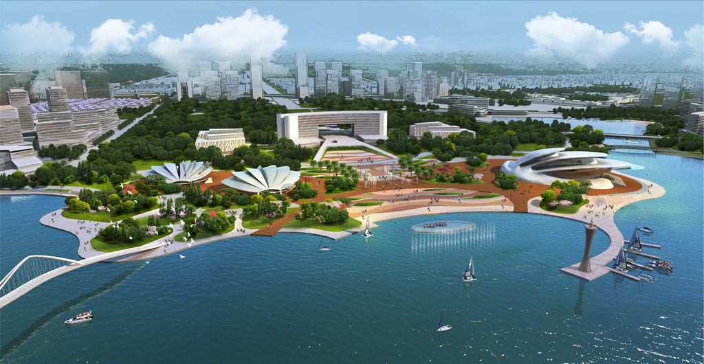 滨水广场景观设计效果图