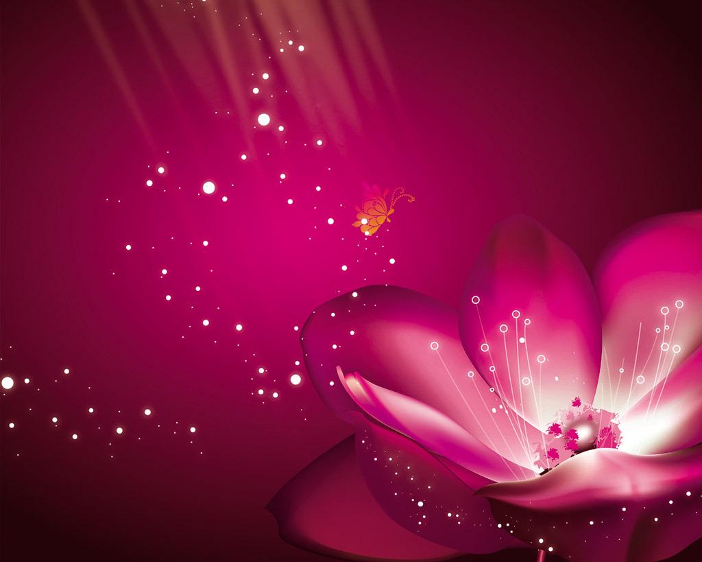 背景墙|装饰画 电视背景墙 手绘电视背景墙 > 紫花梦幻花朵花卉蝶恋花