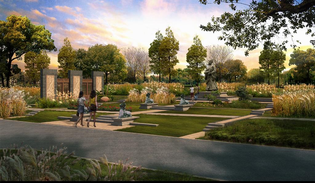 公園文化廣場景觀設計效果圖