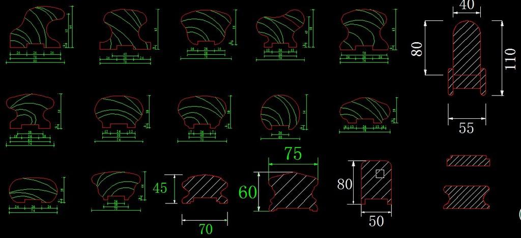 我图网提供精品流行实木楼梯扶手CAD图18款素材下载,作品模板源文件可以编辑替换,设计作品简介: 实木楼梯扶手CAD图18款,模式:RGB格式高清大图, 实木楼梯 木门 楼梯 楼梯扶手 窗 窗花 木窗 CAD平面图 CAD素材 立面图 楼梯大样图 实木家具 CAD图库 家具造型 柜门 实木围栏 实木护拦