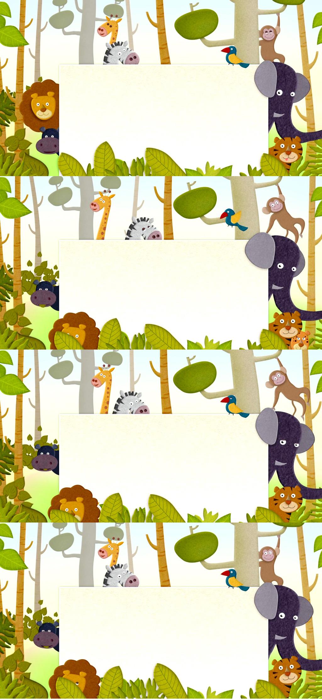 动态视频素材 动态|特效|背景视频素材 > 超清儿童节卡通动物园视频