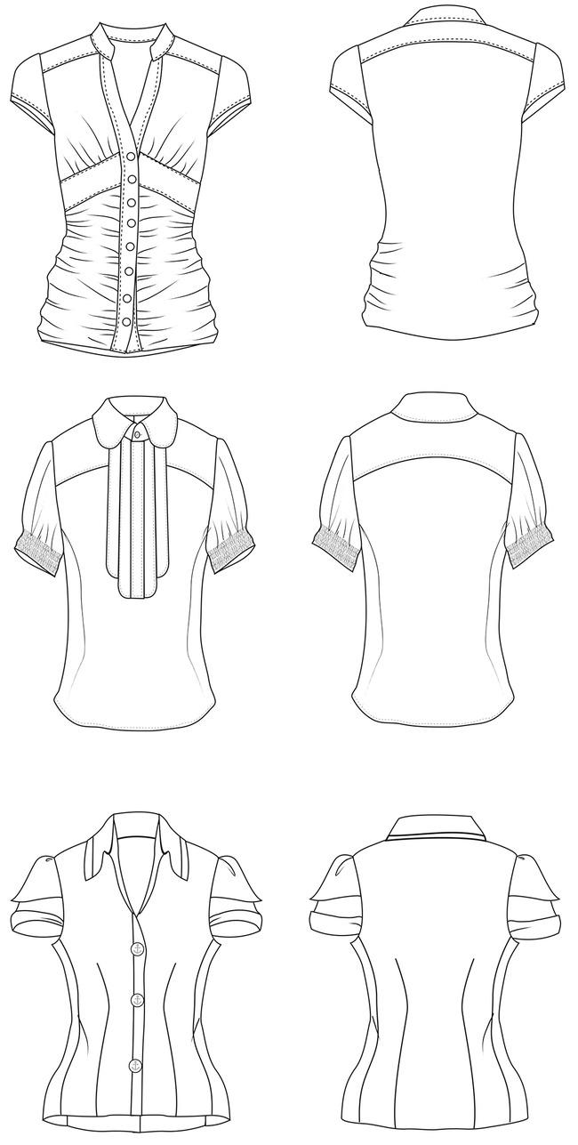时尚女性衬衫设计