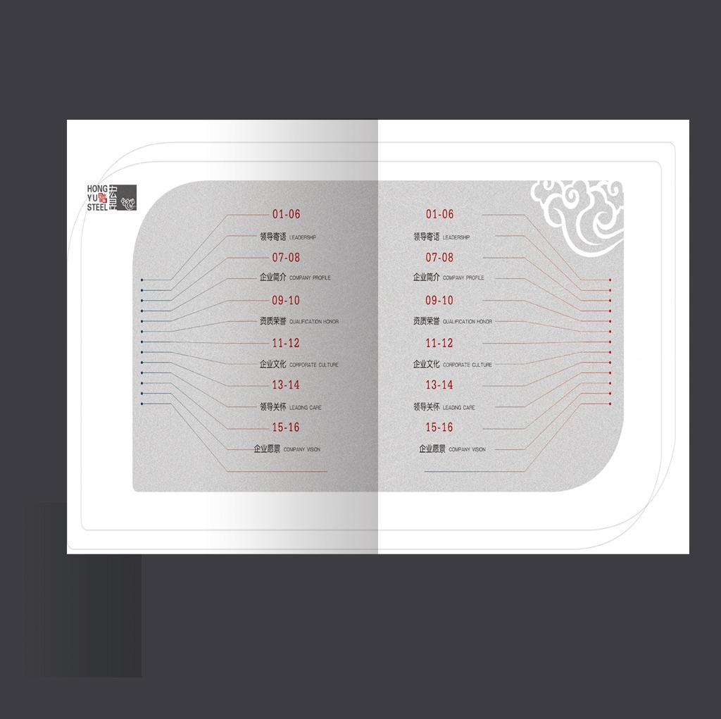 企业画册目录设计模板