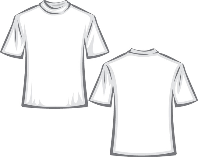 服装设计人体手绘t恤