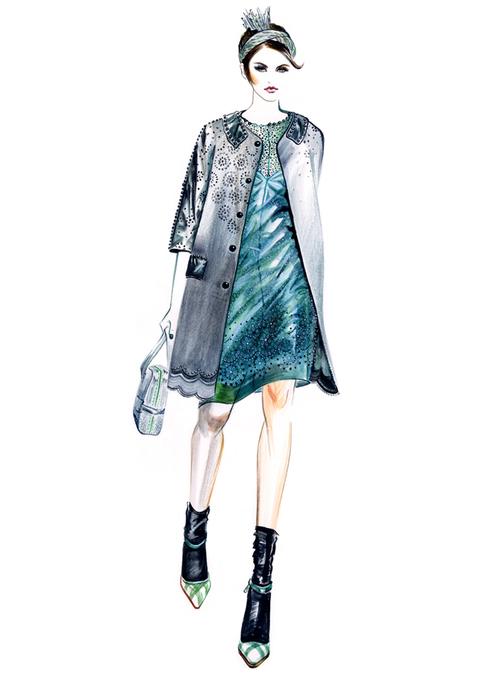 服装设计手稿 婚礼 礼服 婚纱 旗袍 手稿 男装      2014 流行 针织