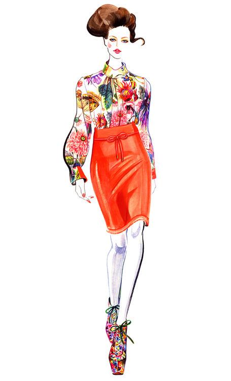 服装手绘效果图 服装手绘图 服装手绘款式图 服装设计 服装款式搭配