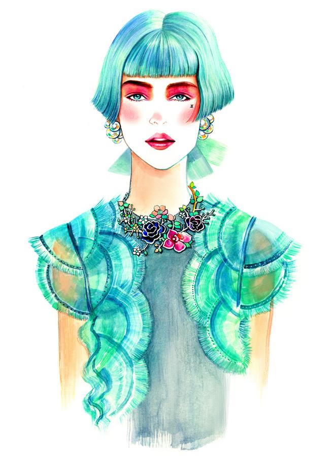 时尚潮流服装手绘稿图片下载 服装手绘效果图 服装手绘图 服装手绘