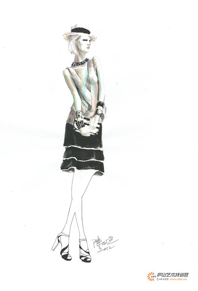 手绘 服装设计手稿 婚礼
