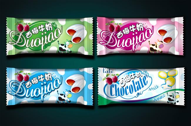 牛奶糖包装设计展开图