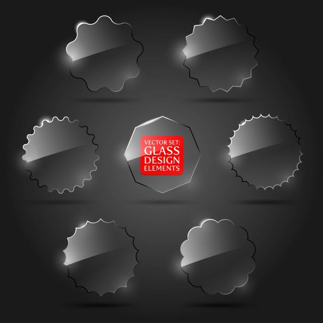 模板下载 创意设计玻璃质感对话框图片下载 创意设计 玻璃 质感 标签