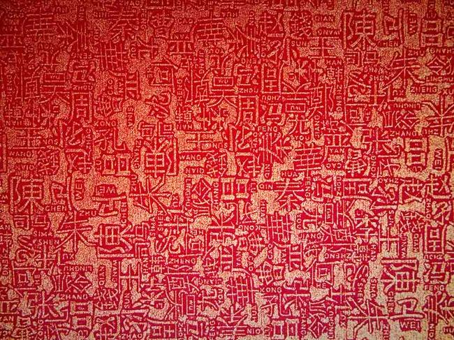 背景墙图片下载百家姓姓氏文字汉字姓名 活字 印刷 中国红 赵 钱 孙