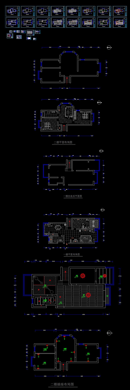 室内cad平面布置图纸图片下载 cad室内平面布置图 cad结构图 cad图