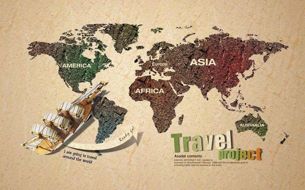 客厅世界地图背景墙装饰画