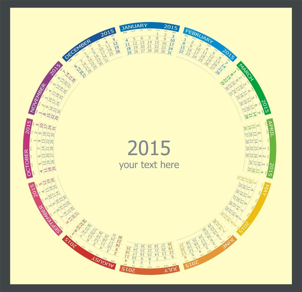 2015羊年年历日历表